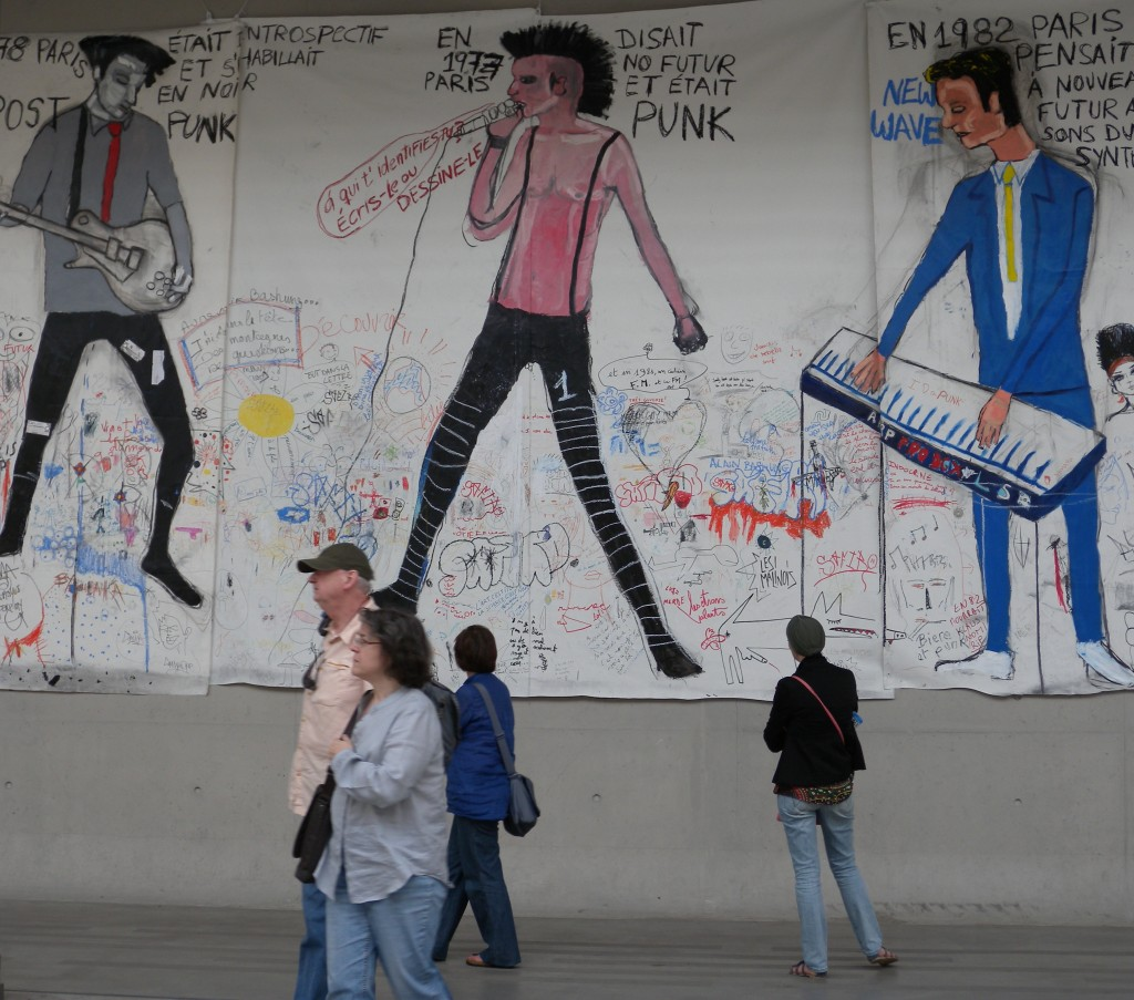 "Peinture de Juan Diego Vergara, au ""104"", à Paris"