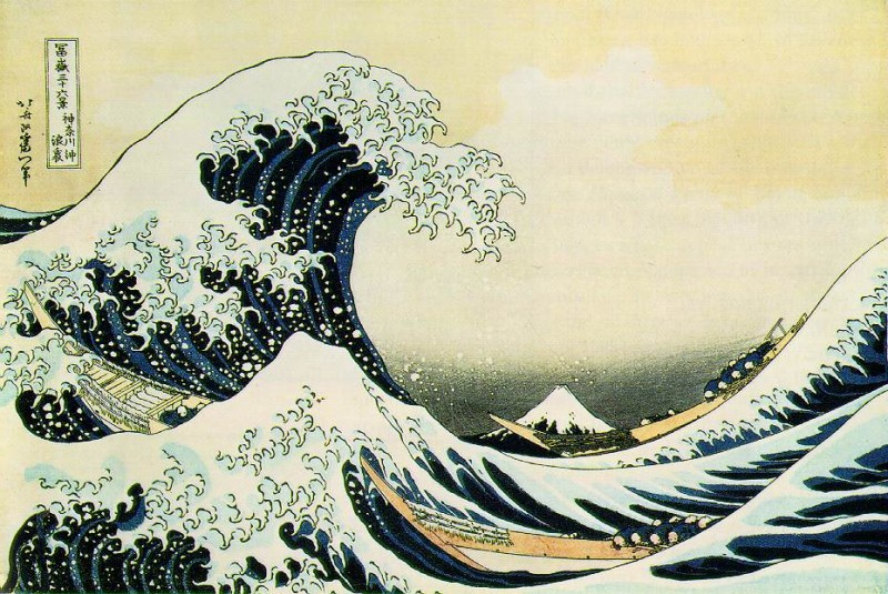 Copyright expired as Katsushika Hokusai (1760-1849) died more than 70 years ago.